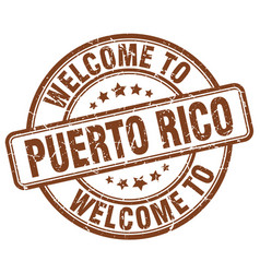 Welcome to puerto rico vector