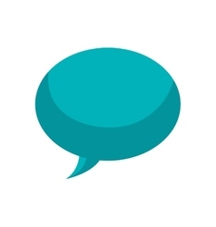 Bubble speak message communication icon vector