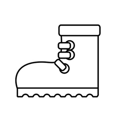 outline industrial boot safety worker industrial vector image