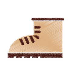 boot construction shoe icon vector image