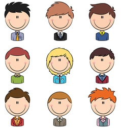 Business male avatar vector