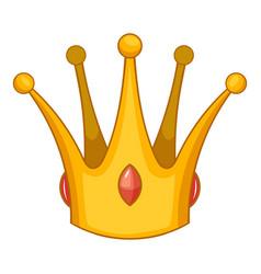 Earl crown icon cartoon style vector