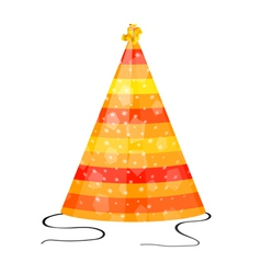 Orange hat for party on a white background vector image