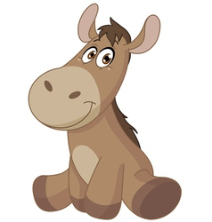 Baby donkey vector