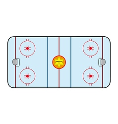 Ice hockey field vector