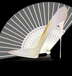 White shoe and fan vector