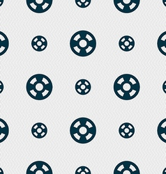 Film icon sign seamless pattern with geometric vector