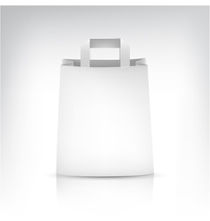 Empty shopping paper bag on white vector