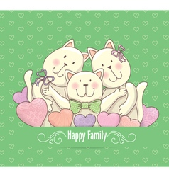 Happy family card vector