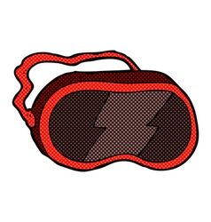 Comic cartoon goggles vector