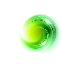 Abstract circle smoke on white green vector