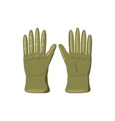 Khaki colored gloves icon cartoon style vector
