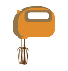 Aged silhouette with kitchen mixer vector