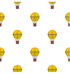 Air balloon journey pattern seamless vector