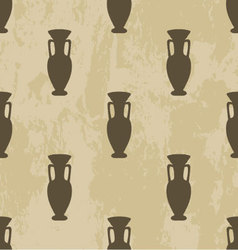 Arabic seamless pattern vase vector image