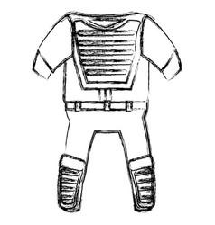 baseball catcher uniform icon vector image