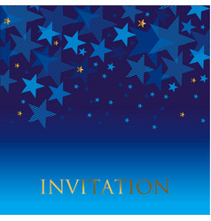 blue geometry star background vector image