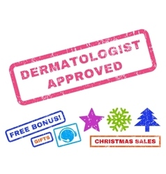 Dermatologist approved rubber stamp vector