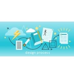 Design Process Concept vector image vector image