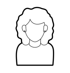Faceless woman with long straight hair icon image vector