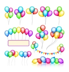 Glossy celebration party balloon groups of vector image vector image