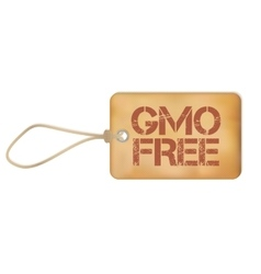 Gmo free old paper grunge label vector