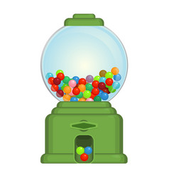 gumball machine toy or commercial device which vector image vector image