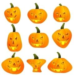 Halloween pumpkin jack lamp vector