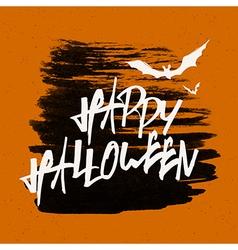 Happy Halloween Text Banner vector image vector image