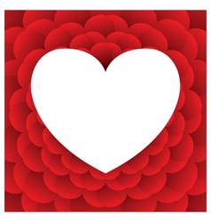 Heart Shape Background vector image vector image