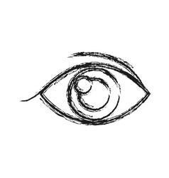 Human eye vision optical look design sketch vector