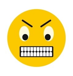 Irritated smiley icon flat style vector image