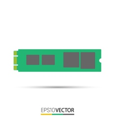 M2 Solid State Drive SSD vector image vector image