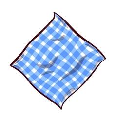 Napkin on white background vector