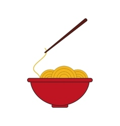 Noodle bowl fast food design vector