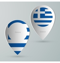 Paper of map marker for maps greece vector
