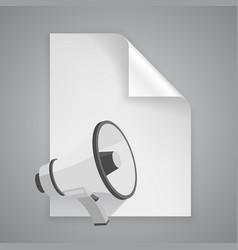 Paper symbol loudspeakers vector