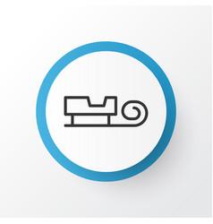 Santa sleigh icon symbol premium quality isolated vector