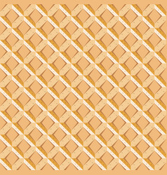 seamless pattern with waffel texture vector image vector image