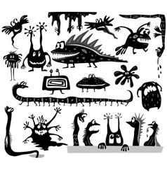 set of cartoon monsters vector image