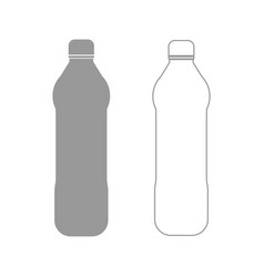 Water plastic bottle the grey set icon vector