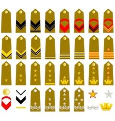 Straps Italian Army vector image