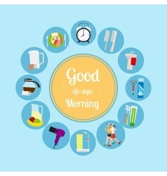 Good morning new day background vector
