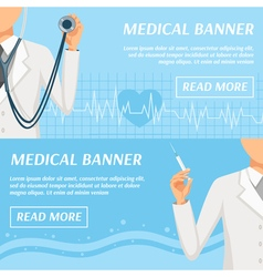 Medical Horizontal Banners Webpage Design vector image