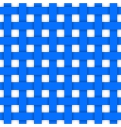 Blue crossed ribbons seamless pattern vector