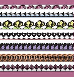 set of openwork lace vector image