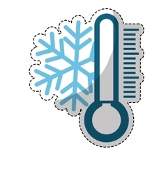 Snowflake and thermometer icon vector