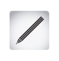 gray emblem pencil icon vector image
