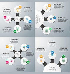 Set of circle infographics template vector