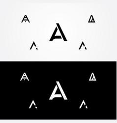 letter a great big logo typo design vector image